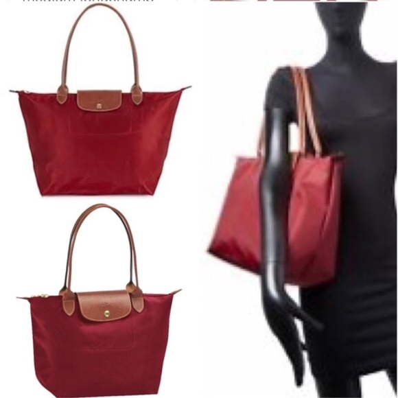 a4f626bc34c8 Longchamp Handbags - Beautiful longchamp le pliage large tote maroon